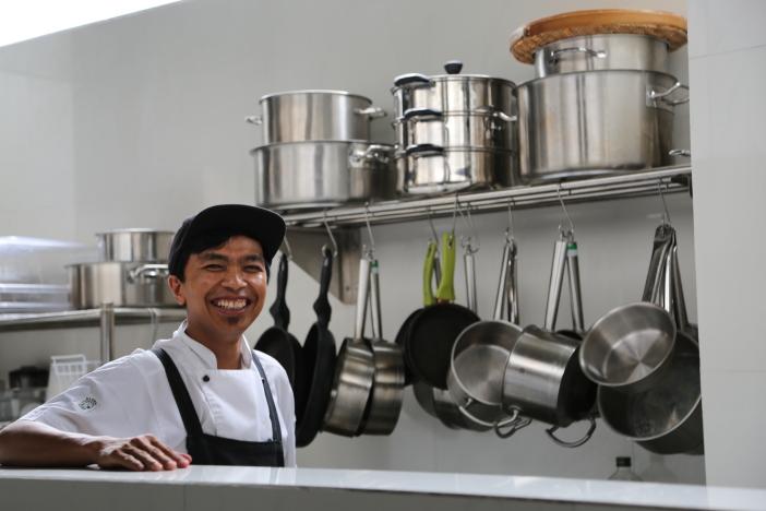 chef in natural habitat